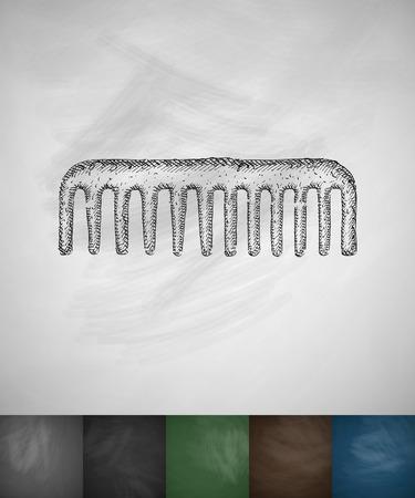 scallop: scallop icon. Hand drawn illustration on Chalkboard