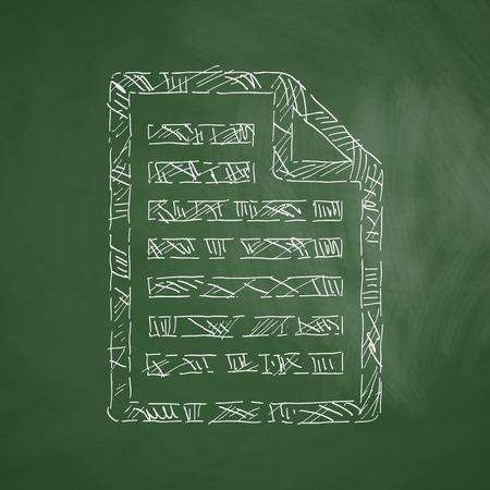alumnos en clase: icono de papel Vectores
