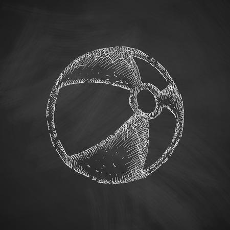 leather goods: ball icon Illustration