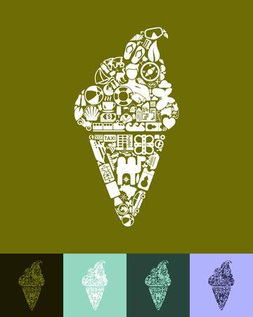 soft serve ice cream: ice cream icon