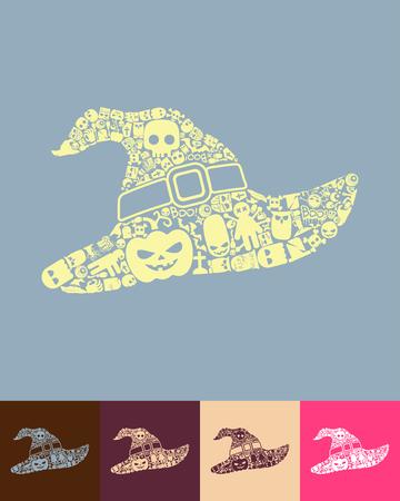 fashion story: witch hat icon Illustration