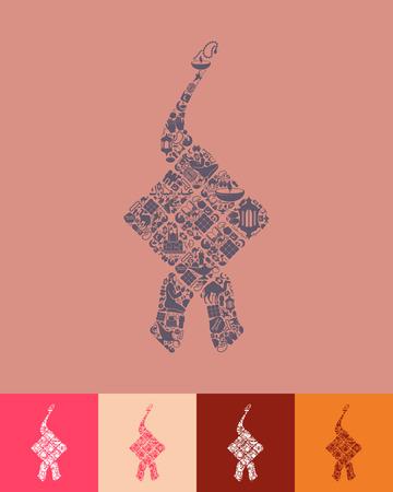 ketupat icon Illustration