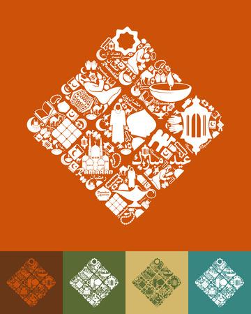 ramadhan: ketupat icon Illustration