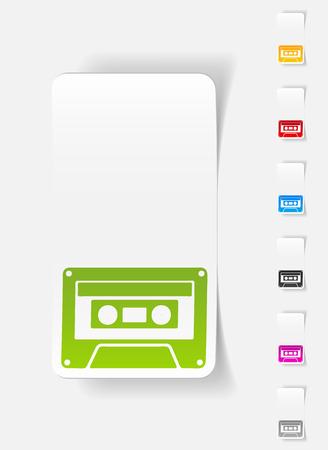 realistic design element. audio cassette