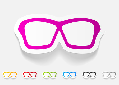 realistic design element. glasses Illustration