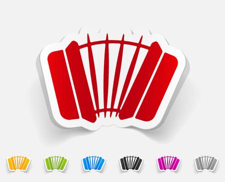 accordion: realistic design element. accordion Illustration