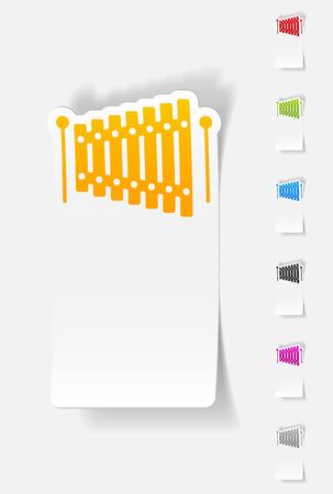 xilofono: elemento de diseño realista. xilófono
