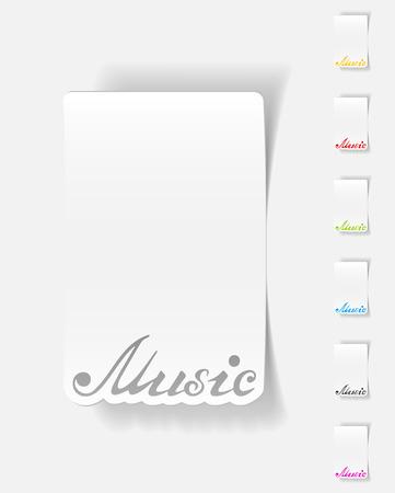 philharmonic: realistic design element. music inscription