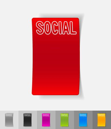 social paper sticker with shadow Vector