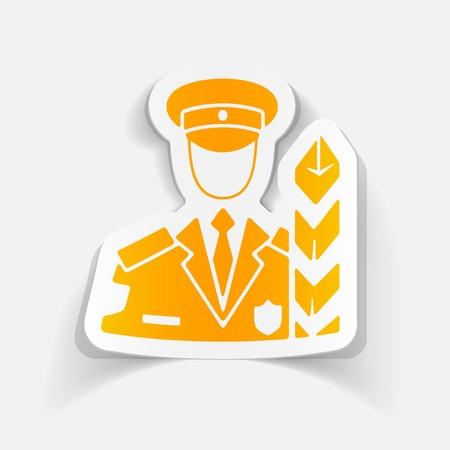 aduana: elemento de dise�o realista. inspector de aduanas Vectores
