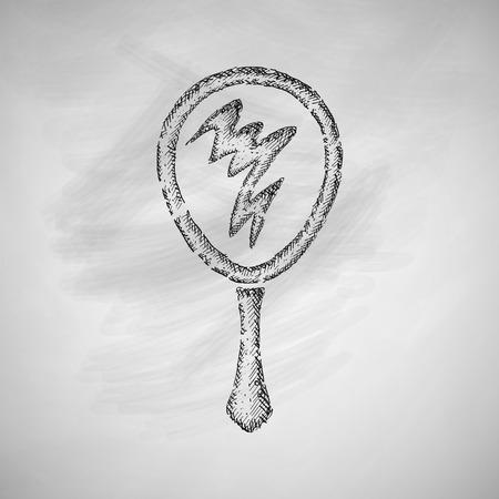 hand mirror: hand mirror icon Illustration