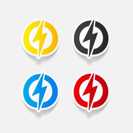 blitz symbol: realistischen Design-Element: Blitz