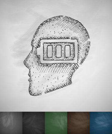 incarnation: idea concept icon. Hand drawn vector illustration. Chalkboard Design Illustration
