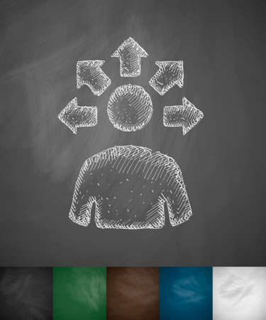 versatile: versatile idea icon. Hand drawn vector illustration. Chalkboard Design