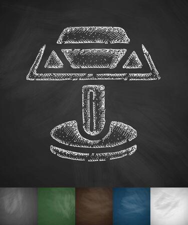 cufflink: cufflink icon. Hand drawn vector illustration. Chalkboard Design Illustration