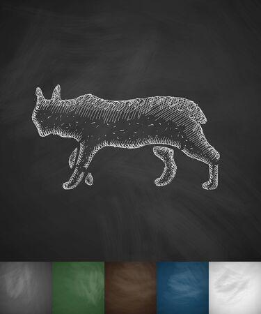 viviparous: lynx icon. Hand drawn vector illustration. Chalkboard Design Illustration