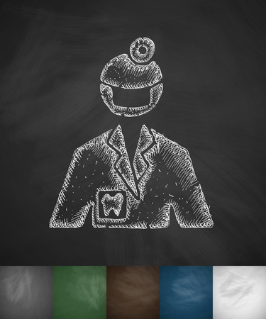 stomatologist: stomatologist icon. Hand drawn vector illustration. Chalkboard Design