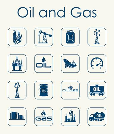 Il est un ensemble de pétrole et de gaz simples icônes web Illustration