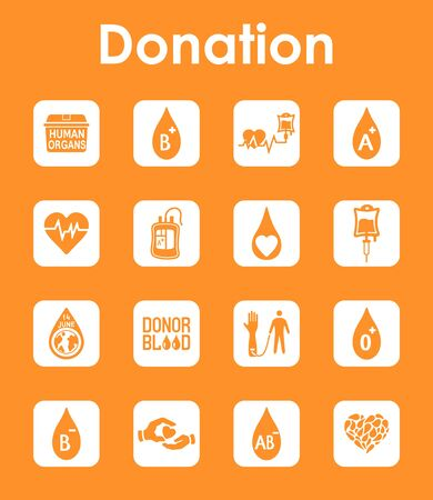 It is a set of donation simple web icons Vector