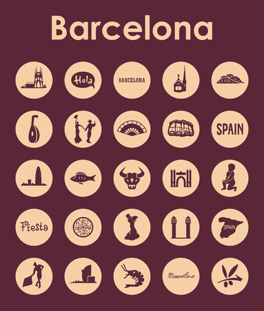 port of spain: It is a set of Barcelona simple web icons Illustration
