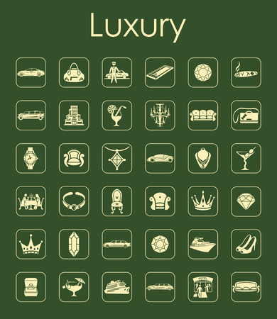 It is a set of luxury simple web icons Vector