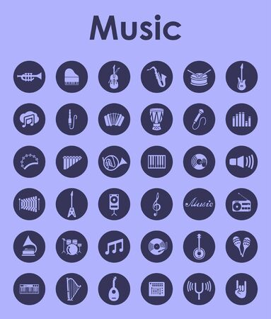 treble clef: It is a set of music simple web icons Illustration