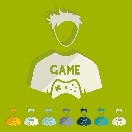 Flat design: gamer Illustration