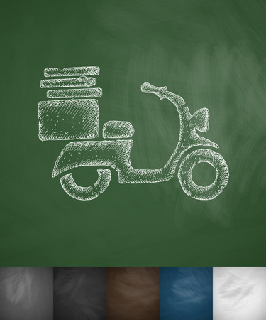 scooter icon. Hand drawn vector illustration. Chalkboard Design Vector