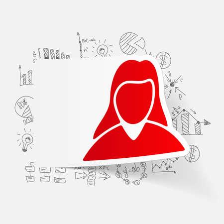 zakelijke vrouw: tekenen zakelijke formules. vrouw