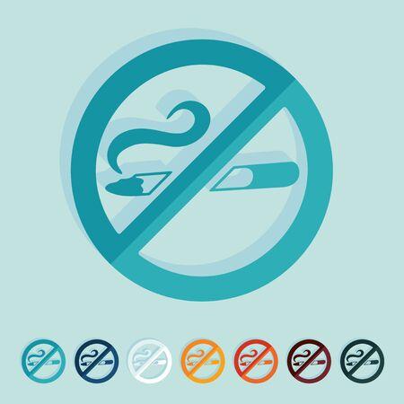 abstain: Flat design: no smoking
