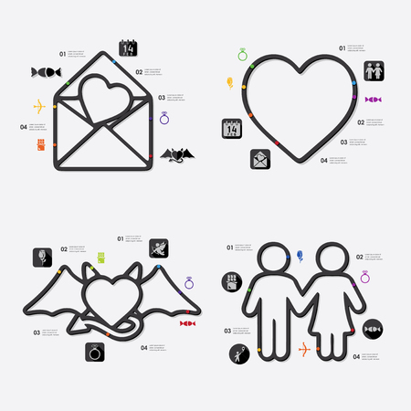 closeness: Valentines Day infographic Illustration