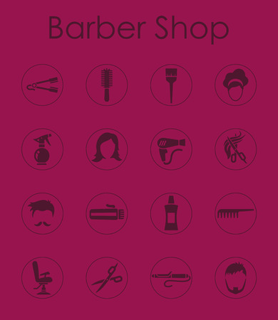 styler: It is a set of barbershop simple web icons