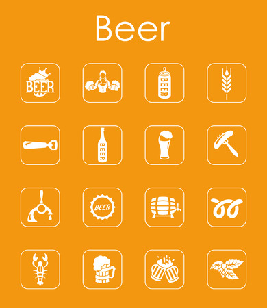 It is a set of beer simple web icons Vector