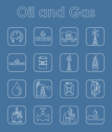 It is a set of oil and gas simple web icons Vector