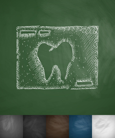 picture tooth icon. Hand drawn vector illustration. Chalkboard Design
