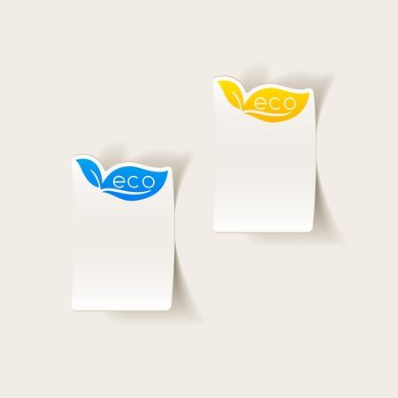 ecological adaptation: realistic design element: eco sign leaf