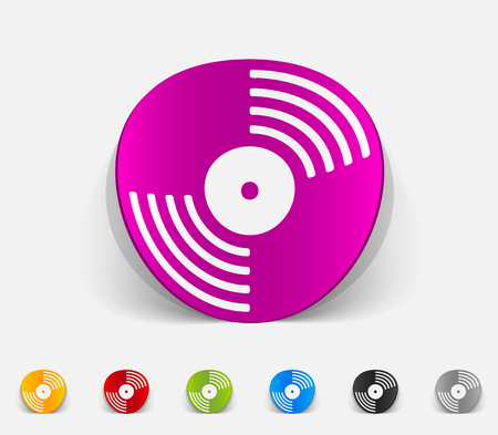chanson: realistic design element. vinyl record