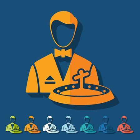 dealer: Flat design: dealer casino