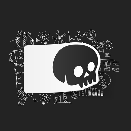 formulas: Drawing business formulas: skull Illustration