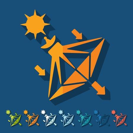 sails: Flat design: solar sails