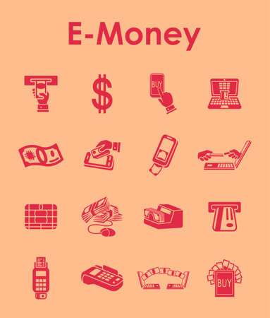 liabilities: It is a set of e-money simple web icons Illustration