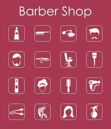 It is a set of barbershop simple web icons Vector