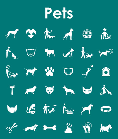 bull dog: It is a set of pets simple web icons