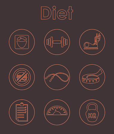 temperance: It is a set of diet simple web icons Illustration