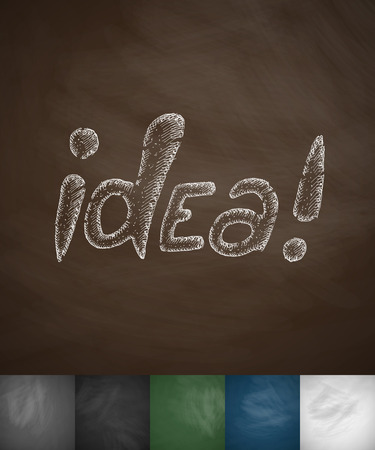 incarnation: idea icon. Hand drawn vector illustration. Chalkboard Design