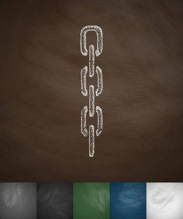 chainlet: chainlet icon. Hand drawn vector illustration. Chalkboard Design
