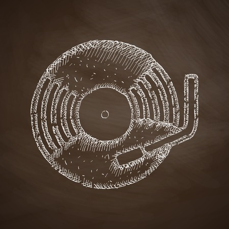 chanson: turntable icon Illustration