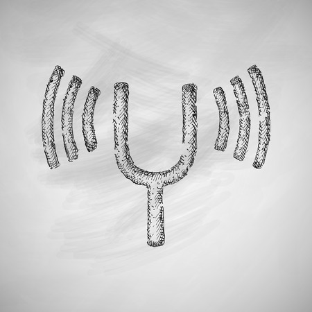 tuning fork: tuning-fork icon Illustration