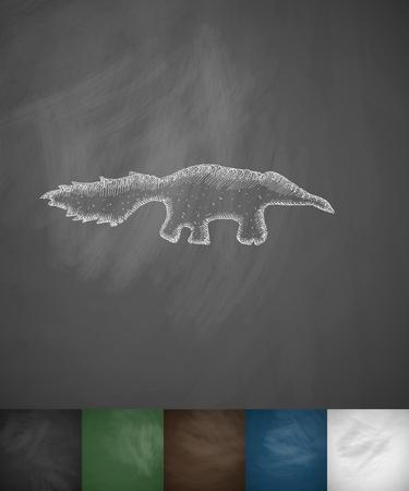 animal viviparous: skunk icon. Hand drawn vector illustration. Chalkboard Design