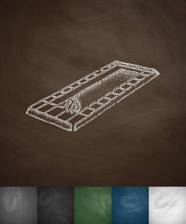 elite sport: swimming pool icon. Hand drawn vector illustration. Chalkboard Design